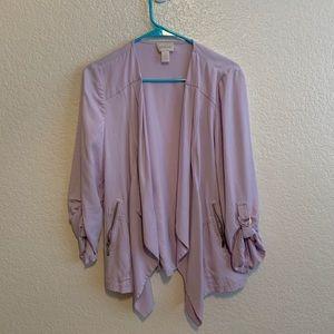 CHICO'S purple lavender drape jacket